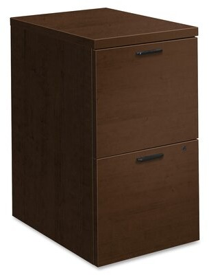 10500 Series 2-Drawer Mobile Vertical Filing Cabinet HON Color: Mocha