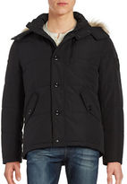 Calvin Klein Water-Resistant Faux Fur-Trimmed Hooded Parka