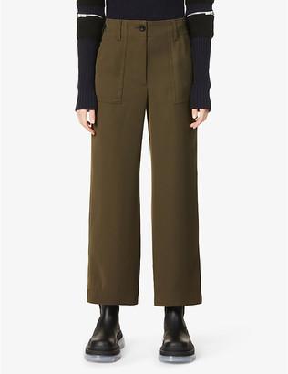 Sacai Wide-leg high-rise woven trousers