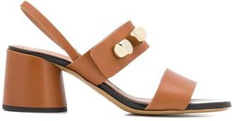 Emporio Armani Cube Appliques Sandals
