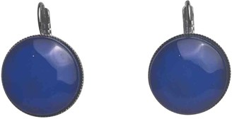 Philippe Ferrandis Blue Metal Earrings