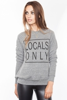 Local Celebrity Locals Only Bobbi Sweater in Heather Grey