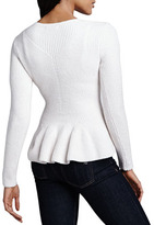 Ted Baker Ohavia Cable-Front Peplum Sweater