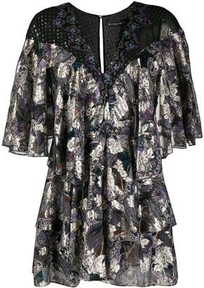 Etro Layered Paisley Print Silk Dress