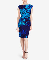 American Living Ruched Floral-Print Dress