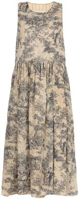 UMA WANG Flared Hem Dress With Print