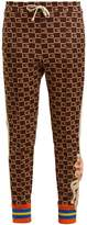 Gucci GG-jacquard mid-rise jersey trousers