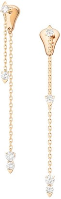 Piaget Sunlight 18K Rose Gold & Diamond Chain Stud Earrings