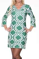 White Mark Pattern Tunic Dress