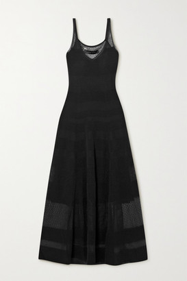 Roland Mouret Cetina Patchwork Stretch-knit Maxi Dress - Black