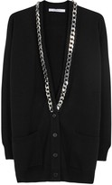 Givenchy Black Chain-trimmed Cashmere Cardigan