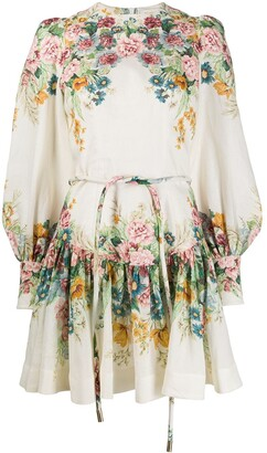 Zimmermann Floral-Print Flared Dress