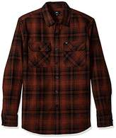 Obey Men's Knuckle Long Sleeve Woven Shirt