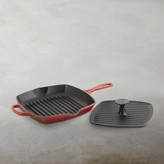 Le Creuset Signature Cast-Iron Square Grill Pan & Press Set