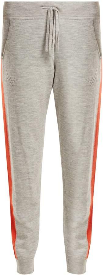 Amanda Wakeley Aldridge side-stripe cashmere track pants