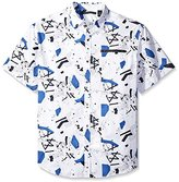 Sean John Men's Big and Tall Short Sleeve Graffiti Print Shirt