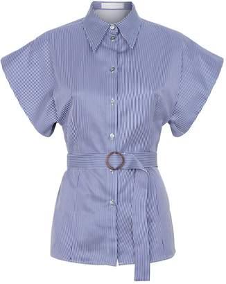 Victoria Victoria Beckham Victoria, Victoria Beckham Pinstripe Belted Shirt