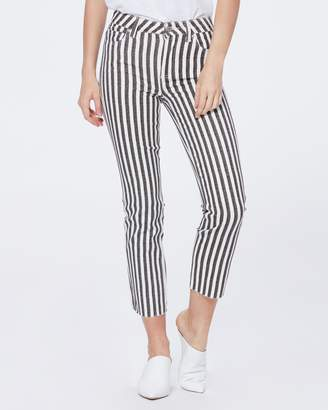 Paige HOXTON STRAIGHT ANKLE RAW HEM-COVE STRIPE