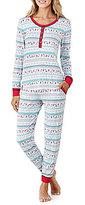Peanuts Snoopy Fair Isle Long John Pajamas