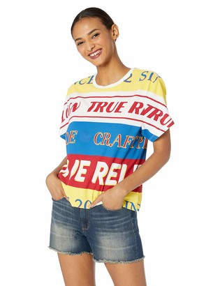 True Religion Women's Crop Boyfriend Tee