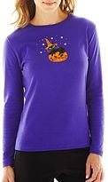 JCPenney Asstd National Brand Cat On Pumpkin Graphic Tee