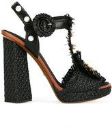 Dolce & Gabbana embellished raffia sandals - women - Cotton/Goat Skin/Plastic/Straw - 37.5