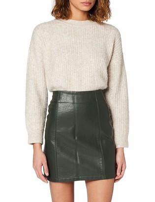 Dorothy Perkins Women's Pu Seam Detail Mini Skirt