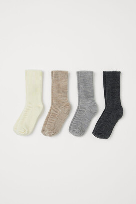 H&M 4-Pack Wool-Blend Socks