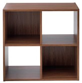 HOME Squares 4 Cube Storage Unit - Walnut Effect