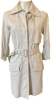 Patrizia Pepe White Leather Leather Jacket for Women