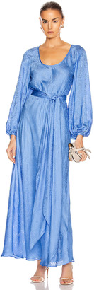 Rebecca De Ravenel Bias Dress in Periwinkle Blue   FWRD