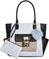 Betsey Johnson 2-in-1 Pin Tote with Pouch, Only At Macy's