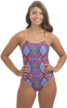 Dolfin Uglies Maya String-Back Printed One-Piece Swimsuit