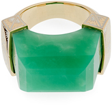 Jade Jagger Chrysoprase & yellow-gold Never Ending ring