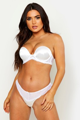 boohoo Satin Super Push Up Strapless Bra