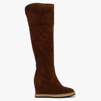 Daniel Noot Tan Suede Over The Knee Boots