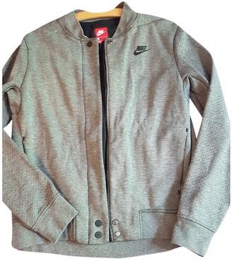 Nike Grey Cotton Jacket for Women