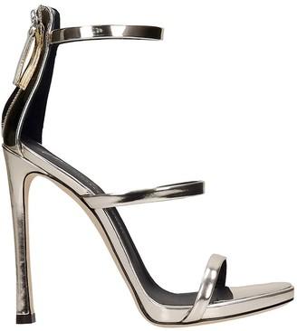Giuseppe Zanotti Harmony Sandals In Platinum Leather