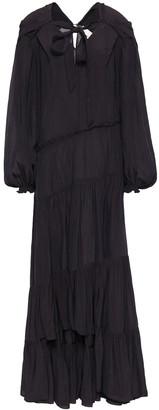 3.1 Phillip Lim Asymmetric Bow-detailed Crinkled-crepe Midi Dress