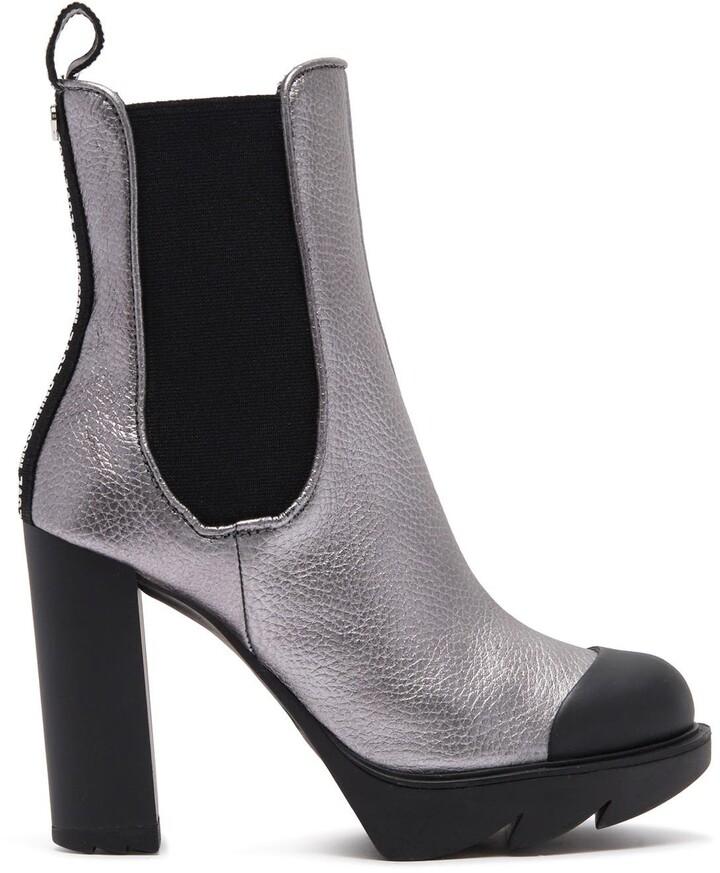 """SALE Spot On F50379 Ladies Black Microfibre Pull On 3/"""" Block Heel Chelsea Boots"""
