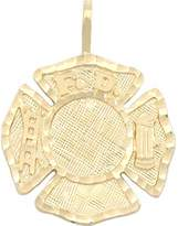 FindingKing 14K Gold Maltese Cross Fire Fighter Charm 23mm