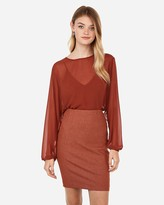 Express High Waisted Textured Pencil Skirt