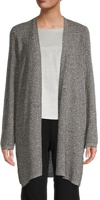 Eileen Fisher Silk Organic Linen Open-Front Cardigan