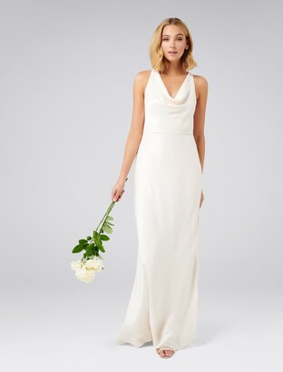 Forever New Selina Cowl Neck Gown - Champagne - 12