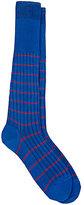 Barneys New York Men's Striped Knee Socks-BLUE