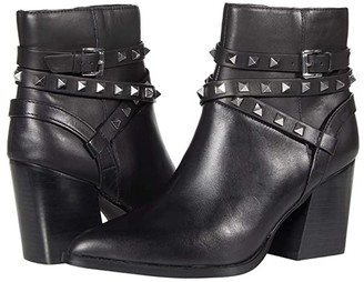 Steve Madden Cala Dress Bootie (Black Leather) Women's Shoes
