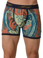 Ed Hardy Men's Cowboy And Horse Boxer Brief - Navy