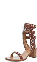 Isabel Marant Caroll Strassed and Studded Sandals in Black