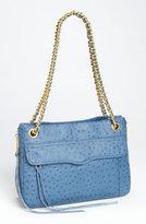 'Swing' Ostrich Embossed Shoulder Bag