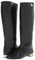 Kate Spade Oliver (Black Patent/Gold Specchio Heel) - Footwear